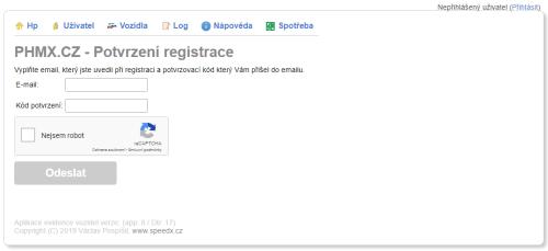 Registrace info